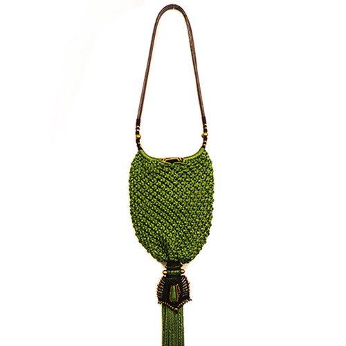 Bolso color verde manzana colección Cadaquez - Macramé - Marina Grafeuille