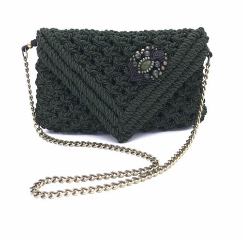 Bolso verde malaquita colección Almetlla - Macramé - Marina Grafeuille