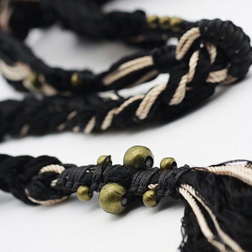 Detalle cinturón negro Ibiza colección Vich - Macramé - Marina Grafeuille