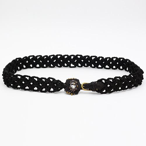 Cinturón negro colección Vich - Macramé - Marina Grafeuille