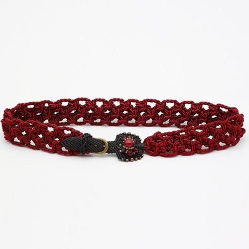 Cinturón rojo colección Vich - Macramé - Marina Grafeuille