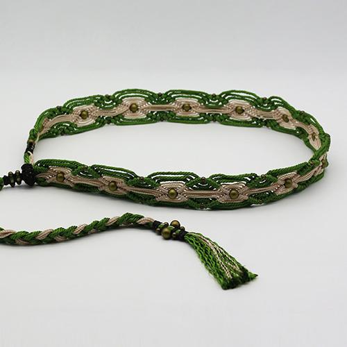 Cinturón verde colección Ibiza - Macramé - Marina Grafeuille