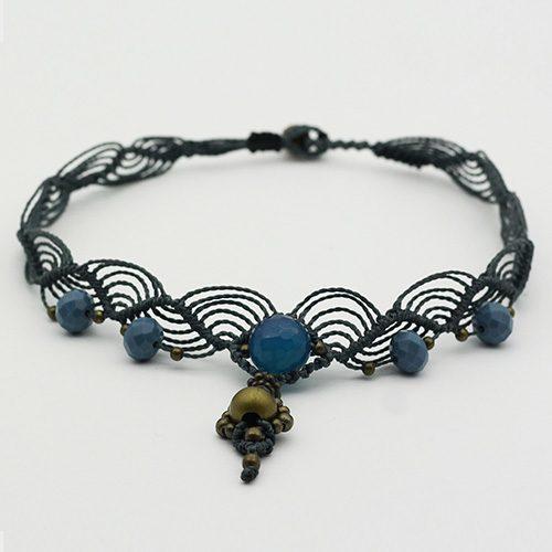 Collar color azul colección Salo - Macramé - Marina Grafeuille