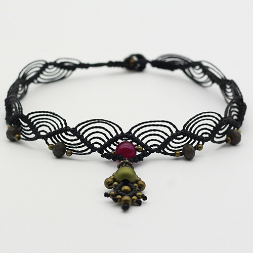 Collar color negro colección Salo - Macramé - Marina Grafeuille