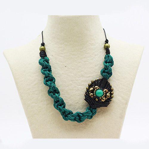 Collar turquesa colección Avinyo - Macramé - Marina Grafeuille