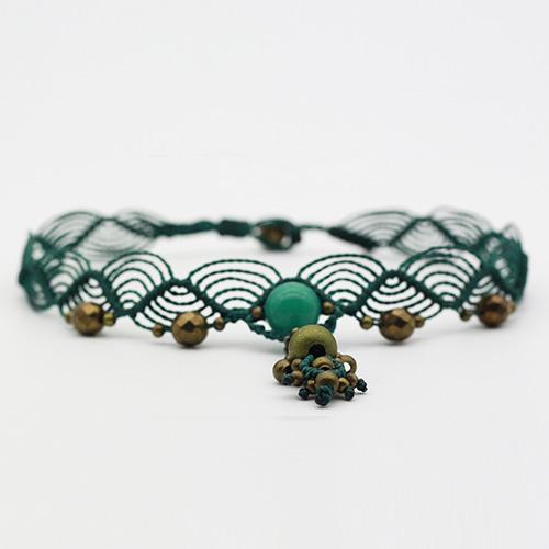 Detalle collar color turquesa colección Salo - Macramé - Marina Grafeuille