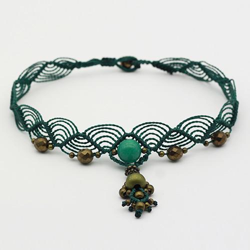 Collar color turquesa colección Salo - Macramé - Marina Grafeuille