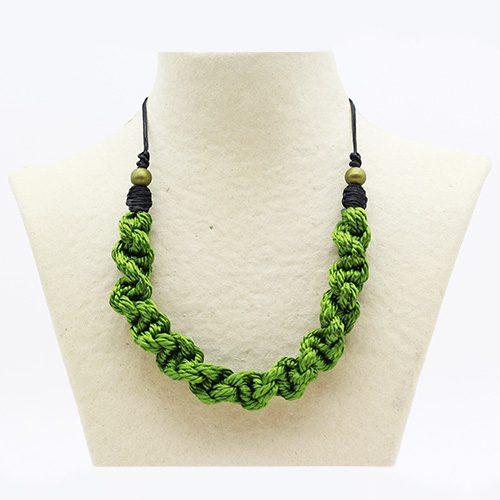 Collar verde manzana colección Pineda - Macramé - Marina Grafeuille