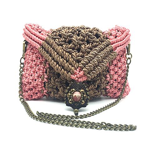Bolso con diseño personalizado en macramé - Marina GRafeuille