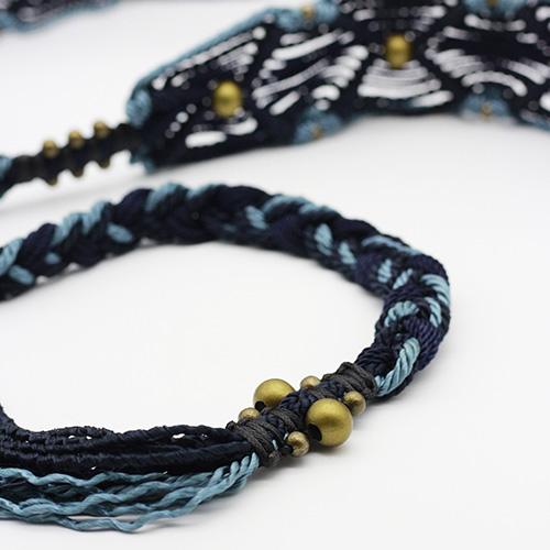 Detalle cinturón azul Ibiza colección Vich - Macramé - Marina Grafeuille