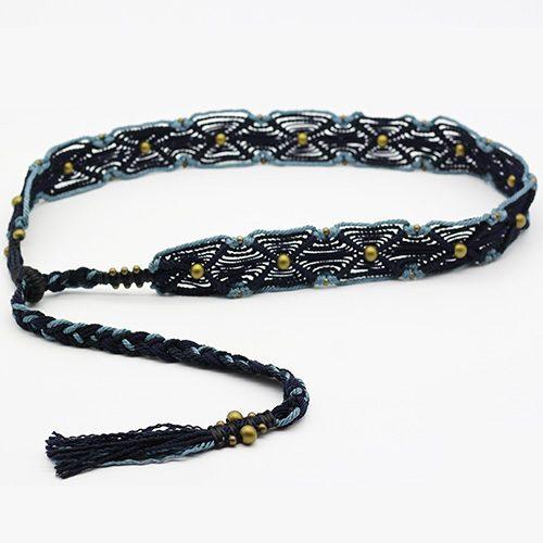 Cinturón azul Ibiza colección Vich - Macramé - Marina Grafeuille