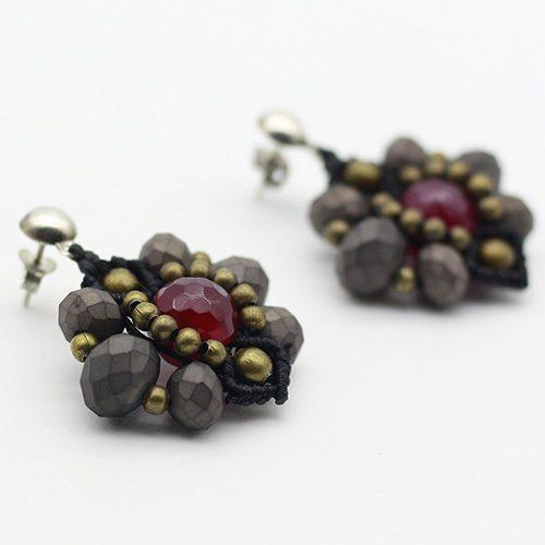 Pendientes color negro colección Ciudadela - Macramé - Marina Grafeuille