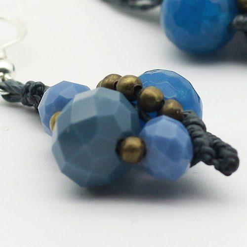 Detalles pendientes color azul marino colección Mahón - Macramé - Marina Grafeuille