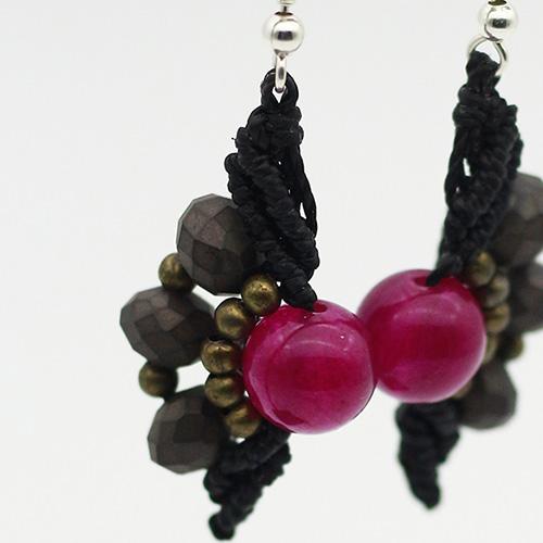Pendientes color negro colección Mahón - Macramé - Marina Grafeuille