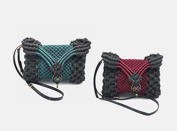 Bolsos con diseño en macramé - Marina Grafeuille