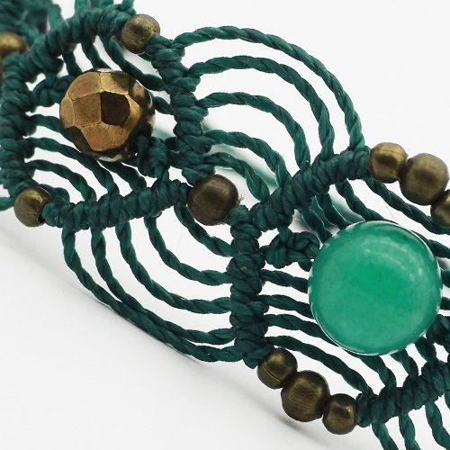 Detalle Pulsera color verde colección Barcelona - Macramé - Marina Grafeuille