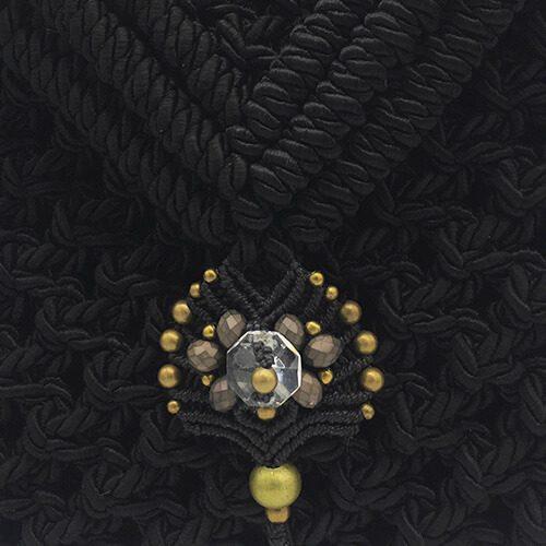 Detalle bolso color negro colección Valls - Macramé - Marina Grafeuille