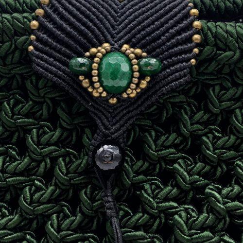 Bolso color verde malaquita colección Girona - Macramé - Marina Grafeuille