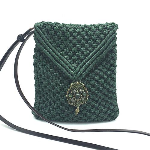 Bolso color verde malaquita colección Sitges - Macramé - Marina Grafeuille