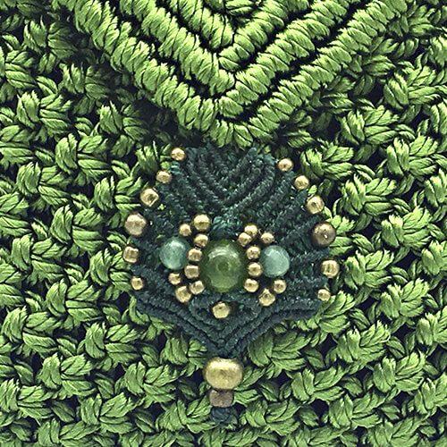 Detalle bolso color verde manzana colección Sitges - Macramé - Marina Grafeuille