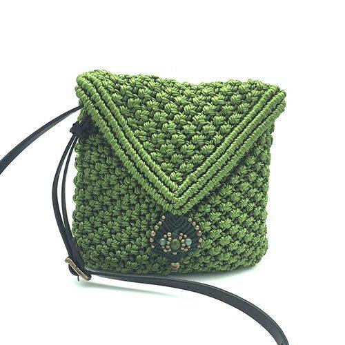 Bolso color verde manzana colección Sitges - Macramé - Marina Grafeuille