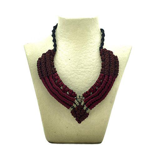 Collar color burdeaux colección Figueres - Macramé - Marina Grafeuille