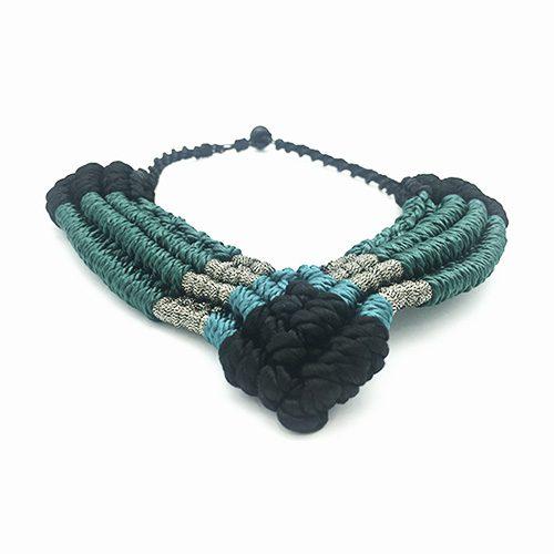 Collar color turquesa colección Figueres - Macramé - Marina Grafeuille