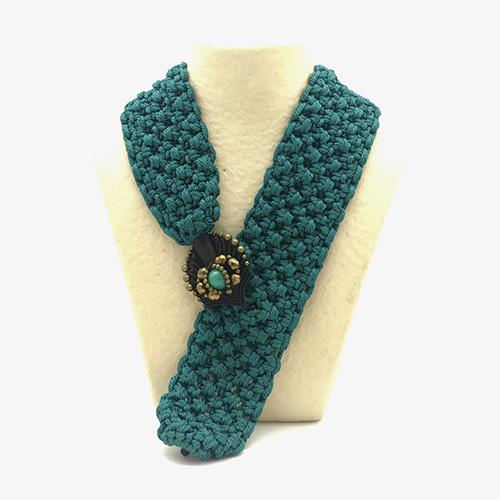 Collar color turquesa colección Montblanc - Macramé - Marina Grafeuille