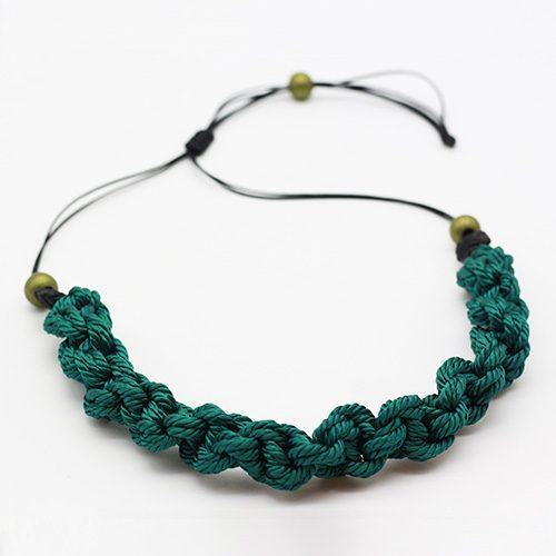 Detalles collar color turquesa colección Pineda - Macramé - Marina Grafeuille