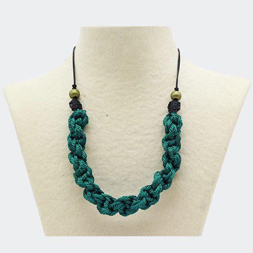 Collar color turquesa colección Pineda - Macramé - Marina Grafeuille