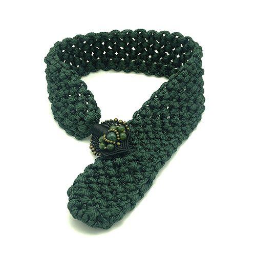 Collar color verde malaquita colección Montblanc - Macramé - Marina Grafeuille